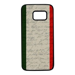 Vintage flag - Italia Samsung Galaxy S7 Black Seamless Case