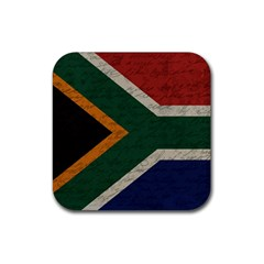 Vintage Flag   South Africa Rubber Square Coaster (4 Pack)  by ValentinaDesign