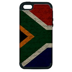 Vintage Flag   South Africa Apple Iphone 5 Hardshell Case (pc+silicone) by ValentinaDesign
