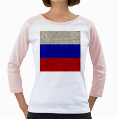 Vintage Flag   Russia Girly Raglans by ValentinaDesign