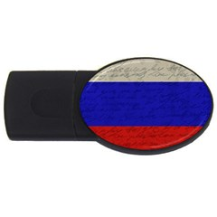 Vintage Flag   Russia Usb Flash Drive Oval (4 Gb) by ValentinaDesign