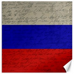 Vintage Flag   Russia Canvas 20  X 20   by ValentinaDesign