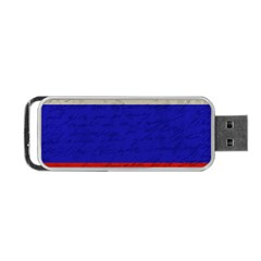 Vintage Flag   Russia Portable Usb Flash (two Sides) by ValentinaDesign