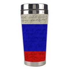 Vintage Flag   Russia Stainless Steel Travel Tumblers by ValentinaDesign