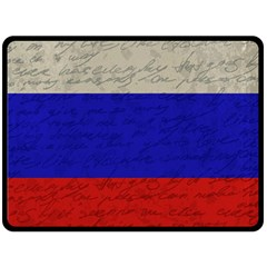 Vintage Flag   Russia Double Sided Fleece Blanket (large)  by ValentinaDesign