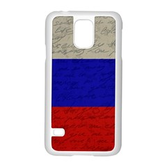 Vintage Flag   Russia Samsung Galaxy S5 Case (white) by ValentinaDesign