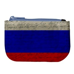 Vintage Flag   Russia Large Coin Purse by ValentinaDesign