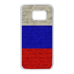 Vintage Flag   Russia Samsung Galaxy S7 White Seamless Case by ValentinaDesign