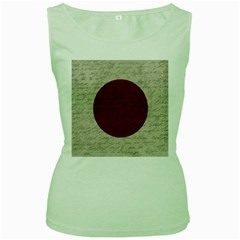 Vintage flag - Japan Women s Green Tank Top by ValentinaDesign