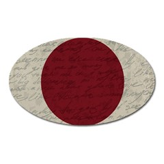 Vintage Flag   Japan Oval Magnet by ValentinaDesign