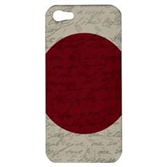 Vintage Flag   Japan Apple Iphone 5 Hardshell Case by ValentinaDesign