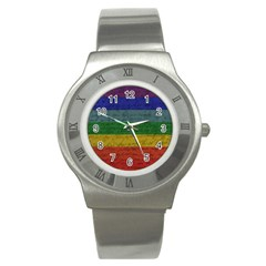 Vintage Flag   Pride Stainless Steel Watch by ValentinaDesign