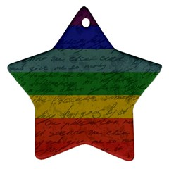 Vintage Flag   Pride Star Ornament (two Sides) by ValentinaDesign
