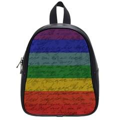 Vintage Flag   Pride School Bags (small)  by ValentinaDesign
