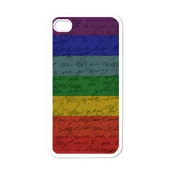 Vintage Flag   Pride Apple Iphone 4 Case (white) by ValentinaDesign
