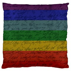 Vintage Flag   Pride Large Cushion Case (two Sides) by ValentinaDesign