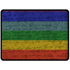 Vintage Flag   Pride Double Sided Fleece Blanket (large)  by ValentinaDesign