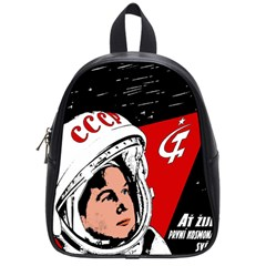 Valentina Tereshkova School Bags (small)  by Valentinaart