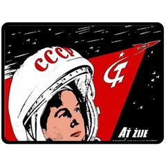 Valentina Tereshkova Fleece Blanket (large)  by Valentinaart