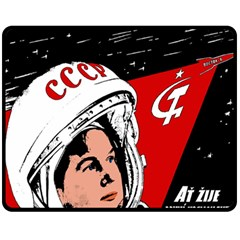 Valentina Tereshkova Fleece Blanket (medium)  by Valentinaart