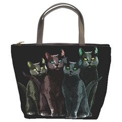 Cats Bucket Bags by Valentinaart