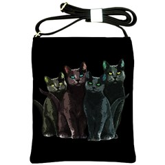 Cats Shoulder Sling Bags by Valentinaart