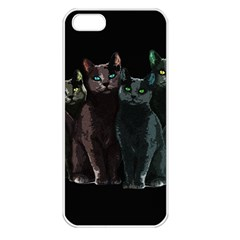Cats Apple Iphone 5 Seamless Case (white) by Valentinaart