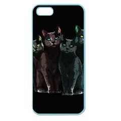 Cats Apple Seamless Iphone 5 Case (color) by Valentinaart