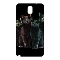 Cats Samsung Galaxy Note 3 N9005 Hardshell Back Case by Valentinaart