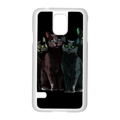 Cats Samsung Galaxy S5 Case (white) by Valentinaart