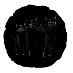 Cats Large 18  Premium Flano Round Cushions by Valentinaart