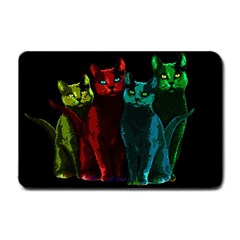 Cats Small Doormat  by Valentinaart