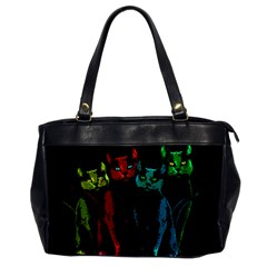 Cats Office Handbags by Valentinaart