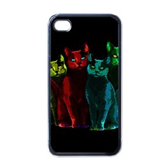 Cats Apple Iphone 4 Case (black) by Valentinaart