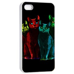 Cats Apple Iphone 4/4s Seamless Case (white) by Valentinaart