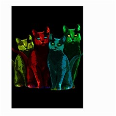 Cats Large Garden Flag (two Sides) by Valentinaart