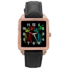 Cats Rose Gold Leather Watch  by Valentinaart