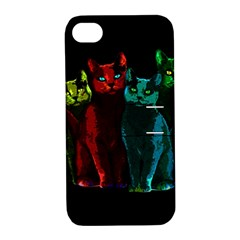 Cats Apple Iphone 4/4s Hardshell Case With Stand by Valentinaart