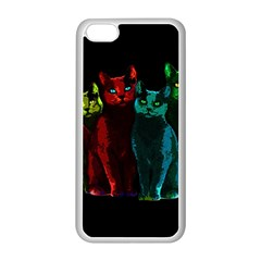 Cats Apple Iphone 5c Seamless Case (white) by Valentinaart