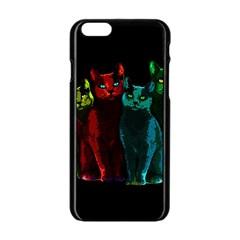 Cats Apple Iphone 6/6s Black Enamel Case by Valentinaart