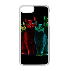 Cats Apple Iphone 7 Plus White Seamless Case by Valentinaart