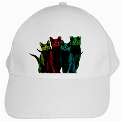 Cats White Cap by Valentinaart