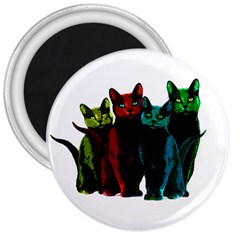Cats 3  Magnets by Valentinaart