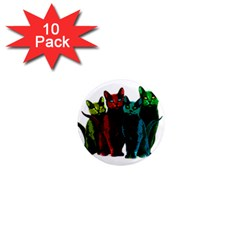 Cats 1  Mini Magnet (10 Pack)  by Valentinaart