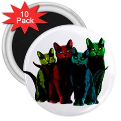 Cats 3  Magnets (10 Pack)  by Valentinaart