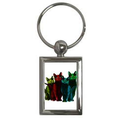 Cats Key Chains (rectangle)  by Valentinaart