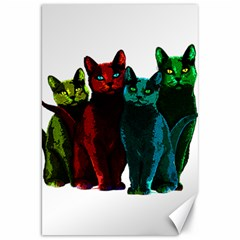 Cats Canvas 20  X 30   by Valentinaart