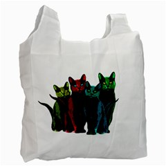 Cats Recycle Bag (one Side) by Valentinaart
