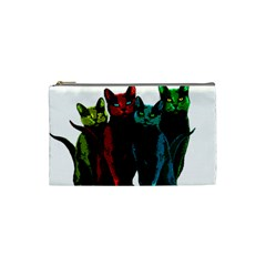 Cats Cosmetic Bag (small)  by Valentinaart
