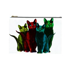 Cats Cosmetic Bag (large)  by Valentinaart